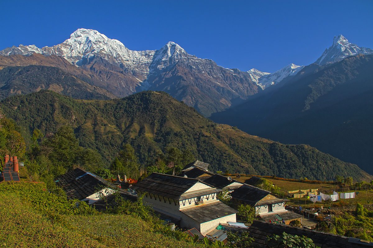 The most beautiful place for travel Ghandruk Village Trek in Nepal