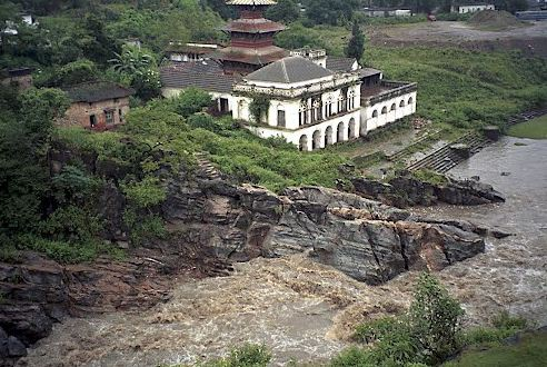 Hiking in Chobhar the 17th-century temple of Jal Vinayak ,an important pilgrimage site for the valley residents