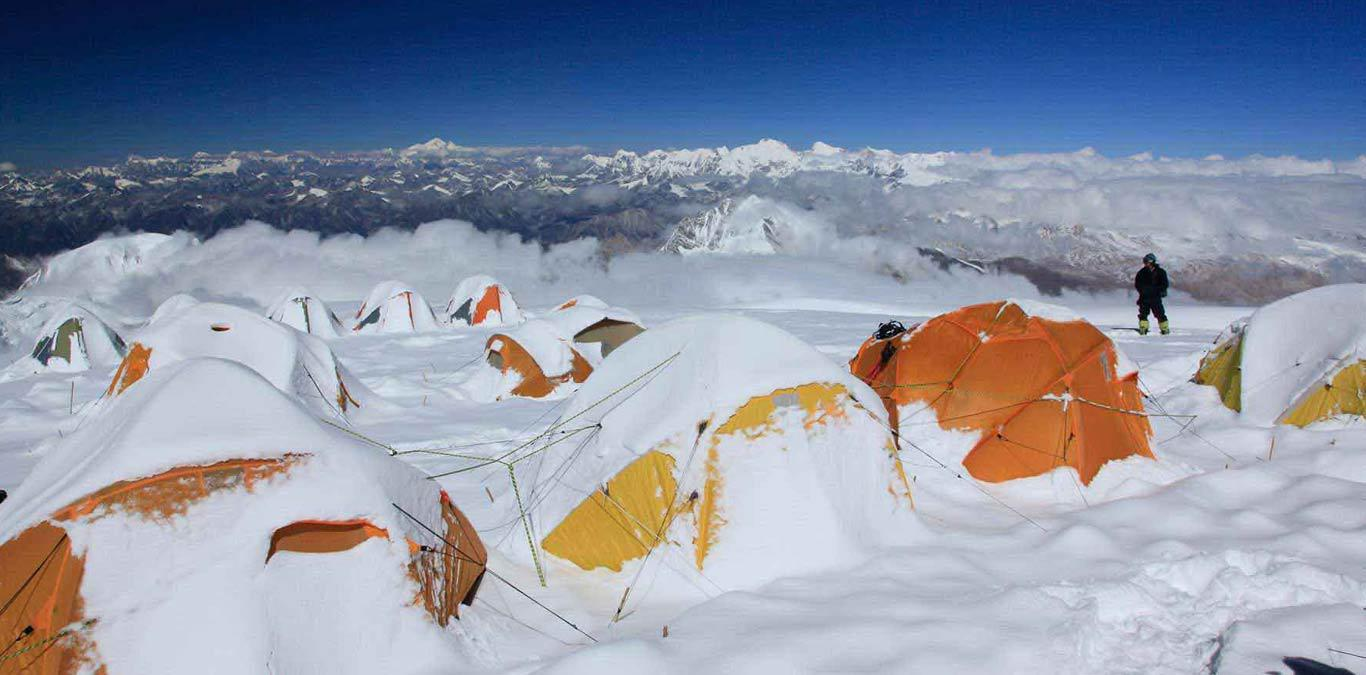 Mt. Cho-oyu Expedition located a short distance to the west from Everest and Lhotse in the Khumbu region