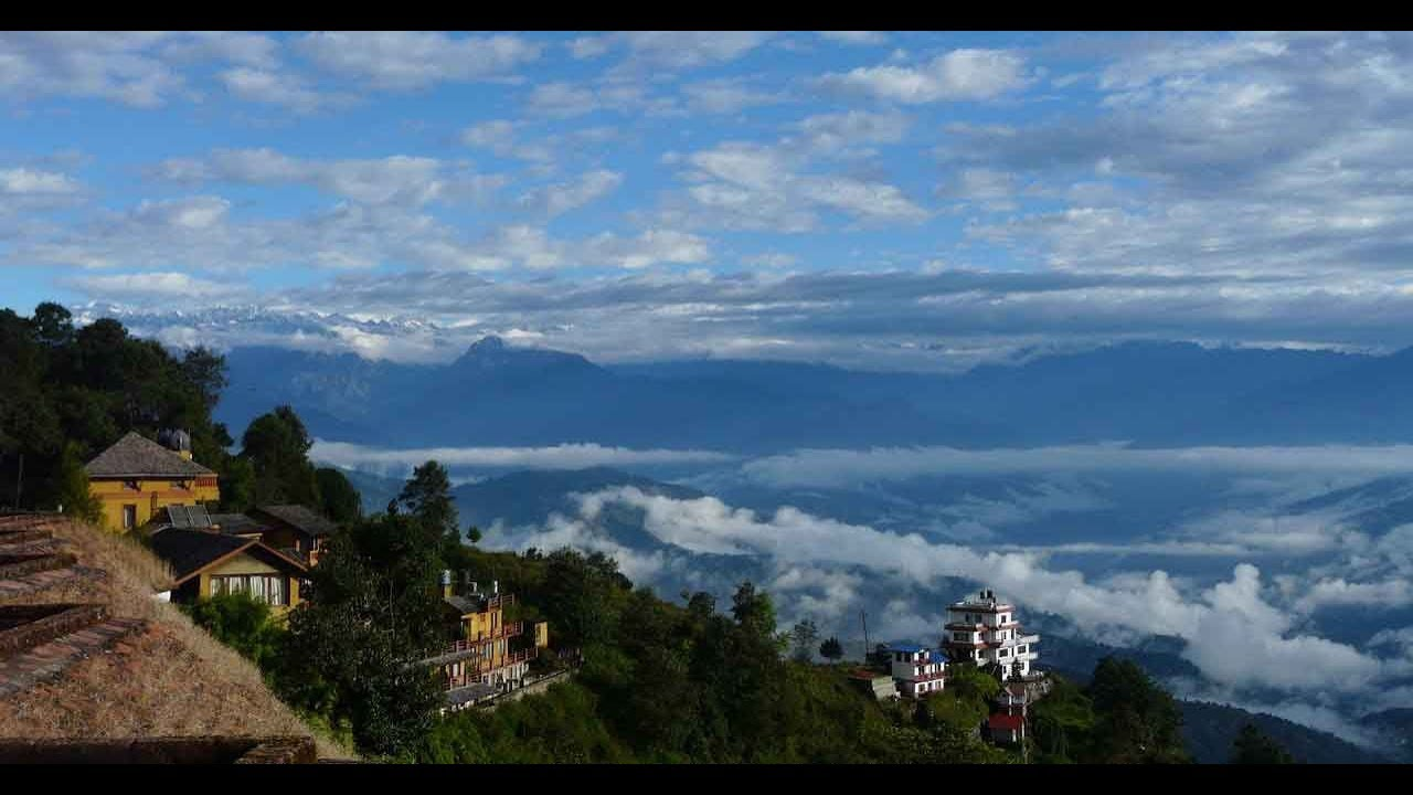 Hiking in Kakani only 26 km. north-west of Kathmandu, we can see the mountain scenery of central Nepal