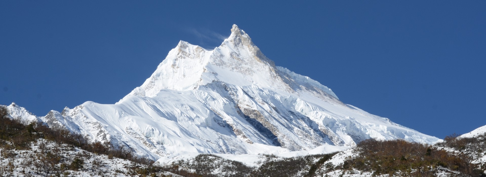 Mt. Manaslu. Expedition 8th highest mountain in the world