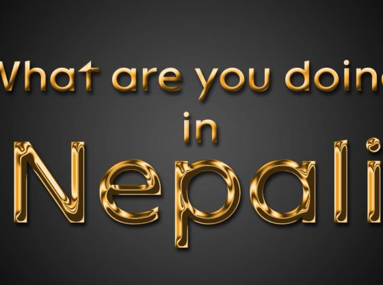 What are you doing in nepali